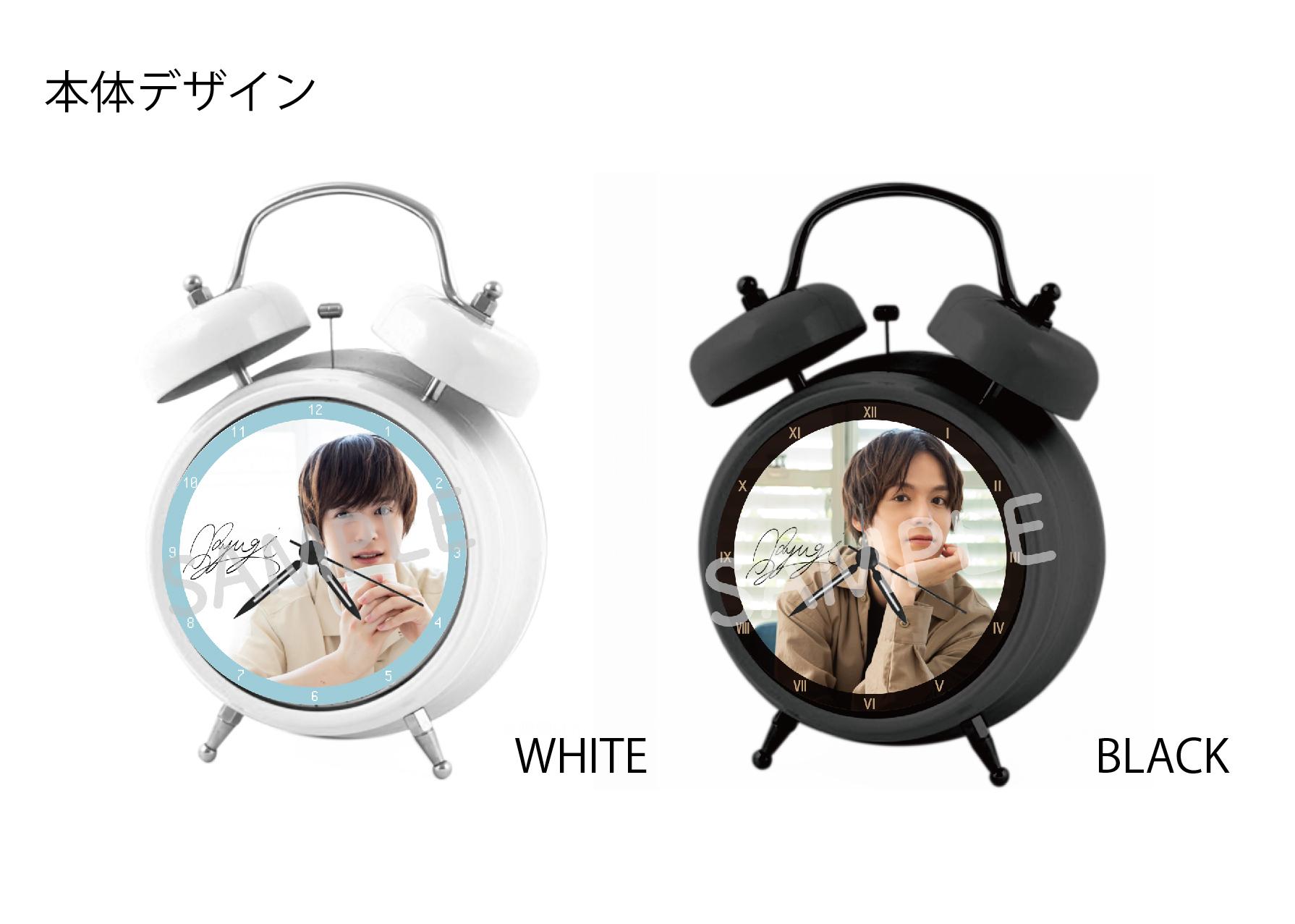 【期間限定 予約販売】オリジナルボイス目覚まし時計(WHITE&BLACK)
